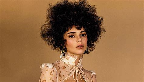kendall jenners afro hair  vogue cultural
