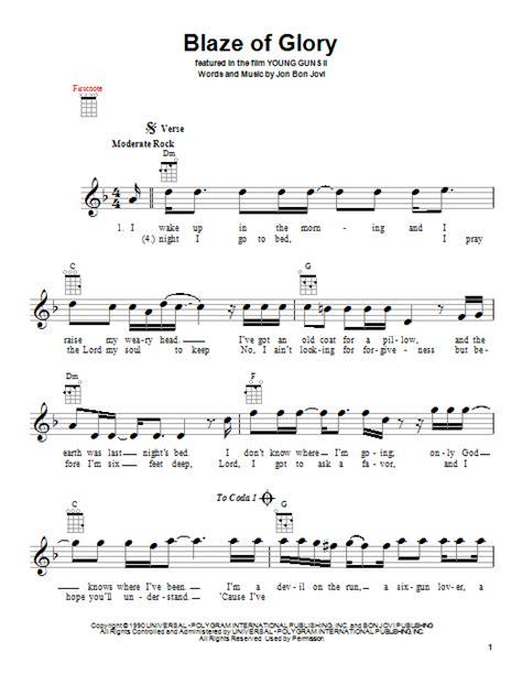 Blaze Glory Jon Bon Jovi Ukulele Guitar Instructor