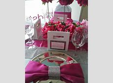 53 Black White And Pink Wedding Table Settings, Picture Of