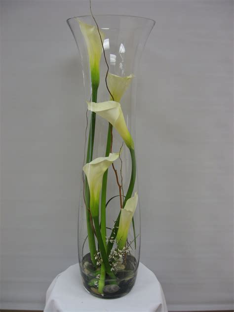 Large Floral Vases by Clear Glass Vases W61 Large Calla Cylinder