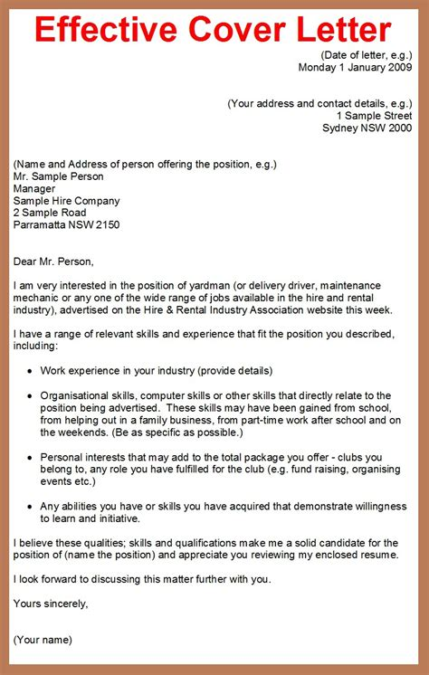 tips for cover letters for applications cover letter