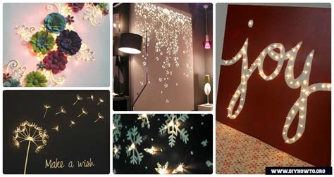diy string light backlit canvas art ideas crafts
