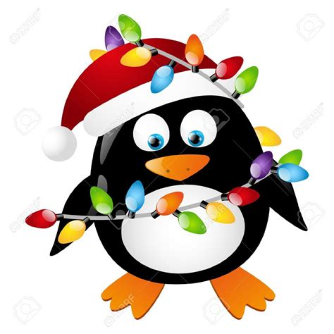 penguin  christmas light bulbs royalty  cliparts
