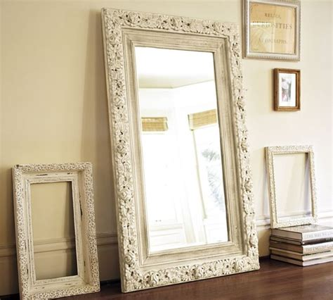 floor mirror barn jocelyn hand carved floral mirror traditional floor mirrors by pottery barn