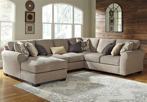 benchcraft pantomine  piece sectional  left chaise