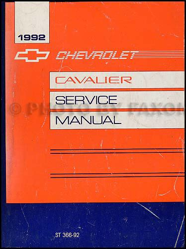 service manuals schematics 2001 chevrolet cavalier electronic toll collection 1992 chevy cavalier repair shop manual original