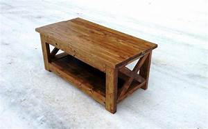 How to make rustic wood coffee table hot home decor for How to build a rustic coffee table