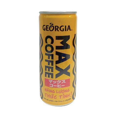 Water, sugar, coffee, flavor, caramel color, emulsifier. Cà Phê Sữa Max Coffee Georgia Sleek Can 235ml
