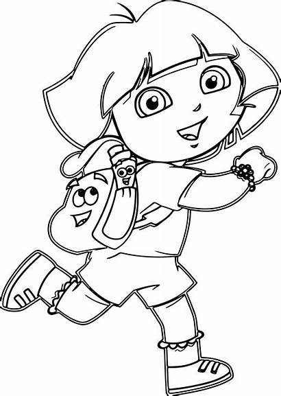 Dora Coloring Cartoon Pages Drawing Wecoloringpage Colouring