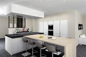 verriere interieure cuisine verriere interieurefr With salon salle a manger contemporain pour petite cuisine Équipée