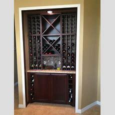 Custom Kitchen Wine Cabinet  Modern  Wine Cellar