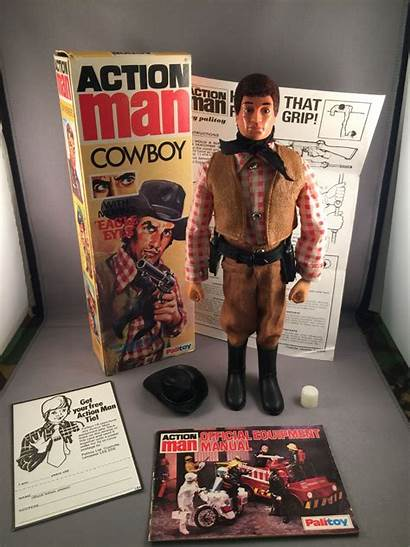 Action Cowboy Figure Box Rare Ultra Eagle