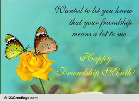 friendship means lot intl friendship month ecards
