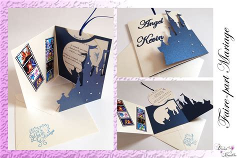 Faire Part Disney Faire Part Mariage Th 232 Me Dessins Anim 233 S Et Ch 226 Teau De Princesses Fa 231 On Disney Couleurs