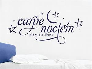 Wandtattoo Carpe Noctem : wandtattoo carpe noctem no 1 von klebeheld ~ Sanjose-hotels-ca.com Haus und Dekorationen