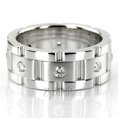 rolex style diamond wedding ring dw100179 14k gold