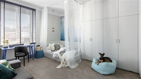 Small apartment renovation in Warsaw, Poland for a young