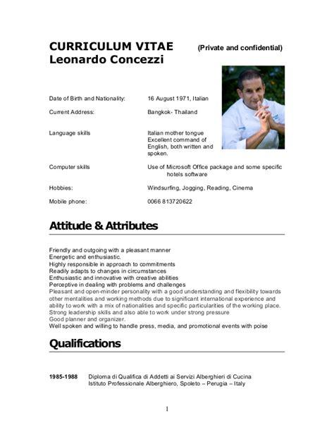cv leonardo concezzi 2012