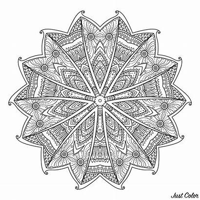 Mandala Coloring Mandalas Difficult Abstract Background Flowers