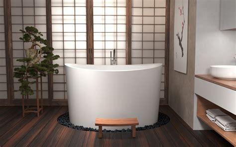 Ofuro Soaking Tubs by Aquatica True Ofuro Duo Freestanding Japanese