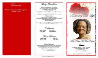 funeral program template trifold