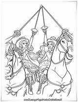Barbie Coloring Three Musketeers Pages Bulkcolor Horse sketch template
