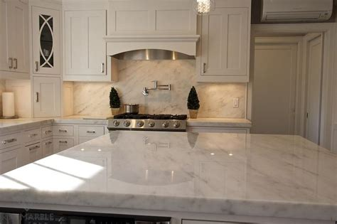 white l shaped kitchen with island imperial danby marble kitchen backsplash transitional