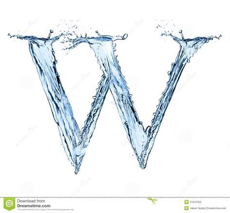 water splashes letter stock  image