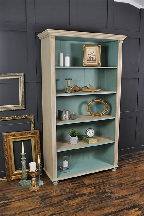 This Farmhouse Pine Bookcase Has Been Painted In Annie