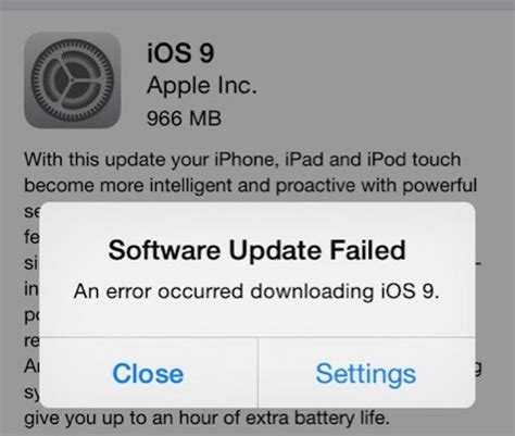 iphone 6 software update 2 solutions for the software update failed error