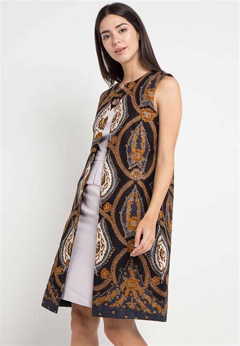 model blazer batik wanita modern lengan panjang pendek