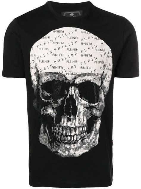philipp plein totenkopf philipp plein t shirt mit totenkopf schwarz in black modesens