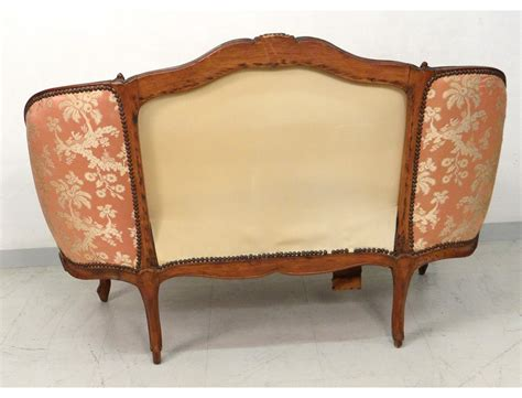 banquette canape sofa bench carved walnut louis xv trash st tilliard