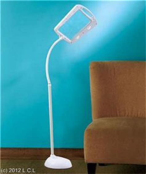 magnifying floor l needlework full page bright led 5x large lens magnifier floor lamp