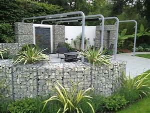 Idee Cloture Jardin : mur et cl ture gabion id es pour le jardin en 31 photos ~ Melissatoandfro.com Idées de Décoration