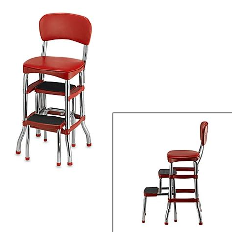 cosco retro chairstep stool  red bed bath