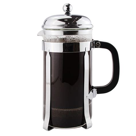 heat glass cup press coffee french maker stainless steel oz resistant borosilicate liter mug kettle