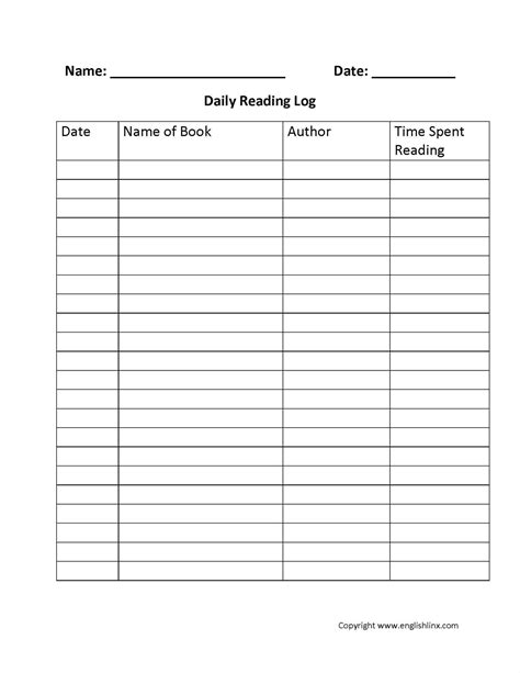 Reading Log For High School Students Template by Summer Reading Log Template Write Happy Ending