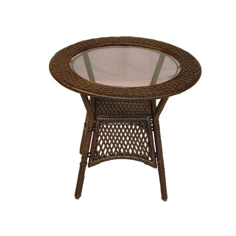 resin outdoor side table oakland living elite resin wicker round patio side table