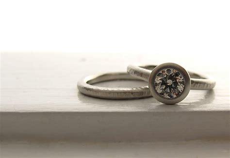 unique engagement rings wedding bands  etsy platinum