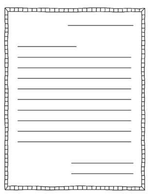 Free Letter Writing Template by Free Printable Letter Writing Templates Theveliger