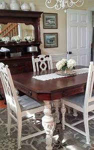 Light Green Room Decor 9 Dining Room Table Makeovers We Can 39 T Stop Looking At