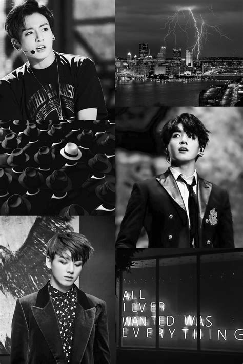 jungkook jeon jeongguk black aesthetic black