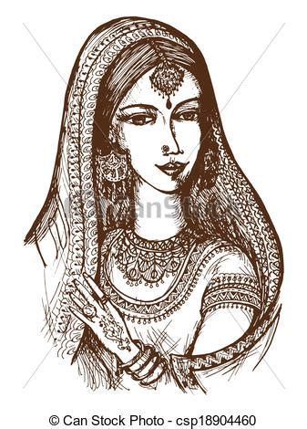hand drawn cartoon sketch illustration  indian