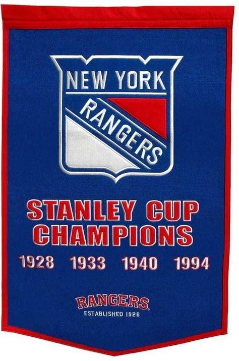 nhl  york rangers dynasty banner  york rangers