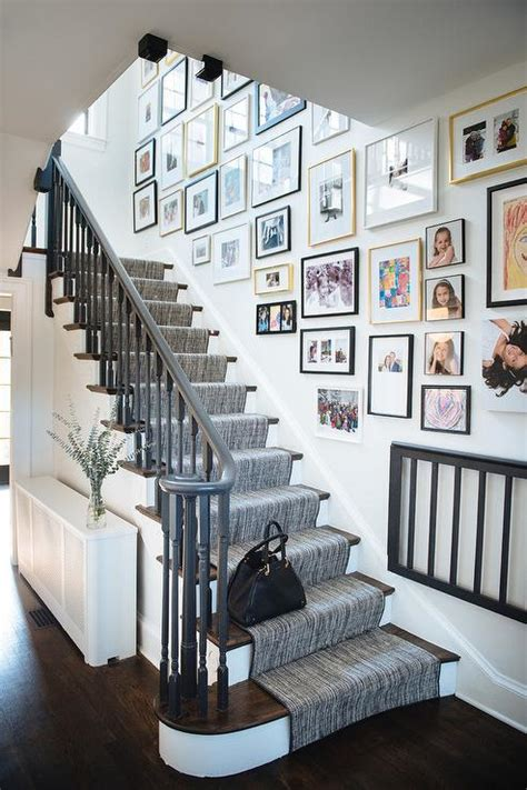 gray staircase handrail transitional entrancefoyer