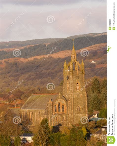 Tarbert church stock photo Image of architecture period