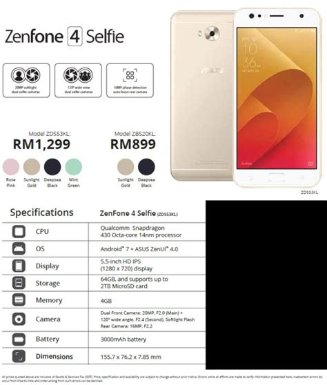 Asus Zenfone 4 Series Is Now Available For Pre-order In