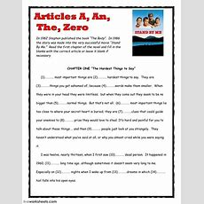 Articles The Body By Stephen King  Interactive Worksheet