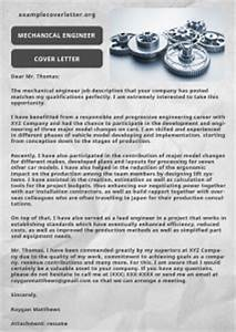 How To Title A Letter Of Recommendation Mechanical Engineer Cover Letter Example Example Cover